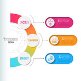 Biznesu 3D infographic szablon Zdjęcia Royalty Free