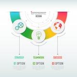 Biznesu 3D infographic szablon Obrazy Stock