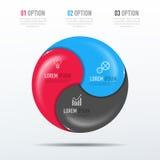 Biznesu 3D infographic szablon Zdjęcie Stock