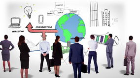 Biznesu dopatrywania brainstorm drużynowy doodle royalty ilustracja
