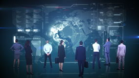 Biznesu dopatrywania globalnego biznesu drużynowy interfejs ilustracji