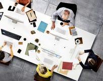 Biznesu Drużynowego spotkania technologii cyfrowej Podłączeniowy pojęcie Obraz Royalty Free