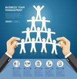 Biznesu drużynowego zarządzania konceptualny projekt Ręka trzyma papier ilustracji