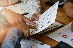 Biznesu drużynowy spotkanie i dyskutować projekta plan fotografia stock