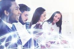 Biznesu drużynowy spotkanie, sieć zdjęcie stock