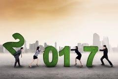 Biznesu drużynowy ułożenie liczba 2017 Obraz Stock