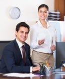 Biznesu drużynowy ono uśmiecha się w biurze Zdjęcia Stock