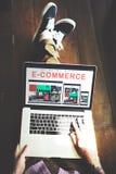 Biznesu E-commrce projekta Biznesowy Wyczulony pojęcie Fotografia Royalty Free