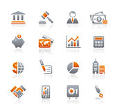 biznesu finansowe grafitowe ikon serie Fotografia Stock
