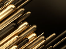 Biznesu finansowego sukcesu luksusu 3d złocista ilustracja Fotografia Royalty Free
