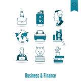biznesu finansowy ikony set Fotografia Royalty Free