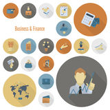 biznesu finansowy ikony set Zdjęcie Royalty Free