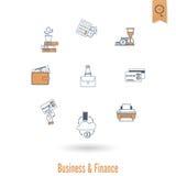 biznesu finansowy ikony set Zdjęcie Stock