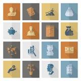 biznesu finansowy ikony set Zdjęcia Stock
