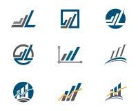 Biznesu Finansowy logo Obraz Stock