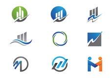 Biznesu Finansowy logo Zdjęcia Stock