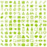 Biznesu guzika znaka sieci ustalona ikona Obrazy Royalty Free