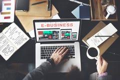 Biznesu handlu elektronicznego projekta Biznesowy Wyczulony pojęcie Obrazy Royalty Free