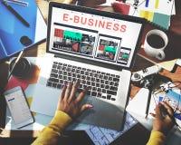 Biznesu handlu elektronicznego projekta Biznesowy Wyczulony pojęcie Obraz Stock