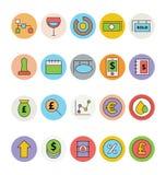 Biznesu i biura Barwione Wektorowe ikony 11 Zdjęcie Stock