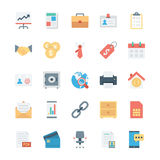 Biznesu i biura Barwione Wektorowe ikony 1 Obraz Stock