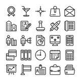 Biznesu i biura Kreskowe Wektorowe ikony 18 royalty ilustracja