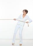 Biznesu i edukaci pojęcie - bizneswomanu ciągnięcia arkana Zdjęcie Royalty Free