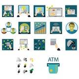 Biznesu i finanse ikony ustawiać Obrazy Stock