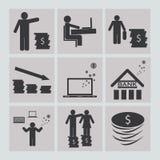 Biznesu i finanse ikony ustawiać Obraz Stock