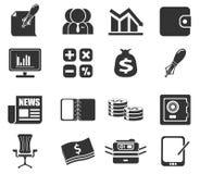 Biznesu i finanse sieci ikony Fotografia Stock