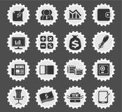 Biznesu i finanse sieci ikony Obrazy Royalty Free
