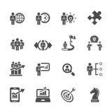 Biznesu i strategii ikona ustawia 3, wektor eps10 Obrazy Stock
