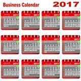 Biznesu kalendarz 2017 Zdjęcia Stock