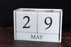 Biznesu kalendarz dla Maja, 29th dzień miesiąc Planisty organizatora data lub wydarzenie rozk?adu poj?cie obraz royalty free