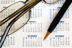 biznesu kalendarza czek datuje datować Zdjęcie Royalty Free
