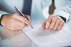 Biznesu kontrakt zdjęcie royalty free