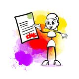 biznesu kontraktacyjna podpisywania kobieta royalty ilustracja