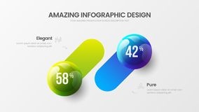 Biznesu 2 kroka infographic wektorowe pi?ki ilustracyjne Firm analityka dane raportu projekta marketingowy uk?ad ilustracji