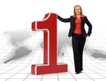 biznesu liczby jeden s świat Fotografia Stock