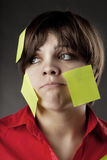 biznesu notatka klajstrująca kobieta Fotografia Stock