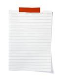 biznesu nutowy biura papieru przypomnienie Fotografia Stock