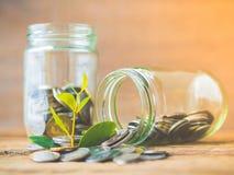 Biznesu oszczędzania i finanse pieniądze pojęcie zdjęcie royalty free