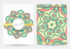 Biznesu rocznika okładkowy styl Papier z geometrycznym wzorem dla biznesu Obrazy Stock