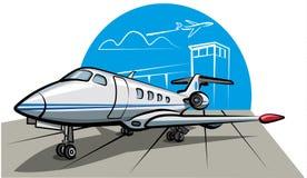 biznesu samolotowy strumień Obrazy Royalty Free