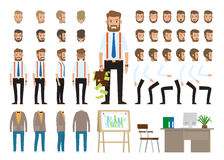 Biznesu styl Tworzy Twój charakteru wektoru plakat ilustracji
