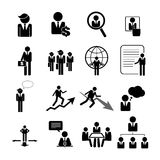 Biznesu, zarządzania i działu zasobów ludzkich ikony, ustawiają eps 10 Obraz Stock