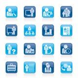 Biznesu, zarządzania i hierarchii ikony, ilustracji