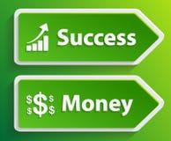 Biznesu znak z teksta pieniądze i sukcesem Fotografia Royalty Free