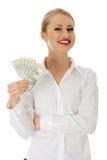 bizneswomanów dolary Obraz Royalty Free