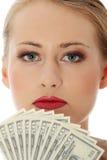 bizneswomanów dolary Fotografia Stock